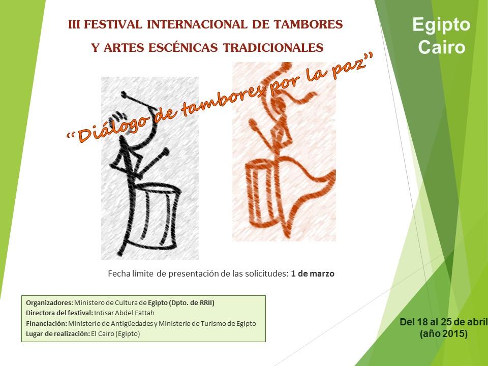 III FESTIVAL INTERNACIONAL DE TAMBORES 2015